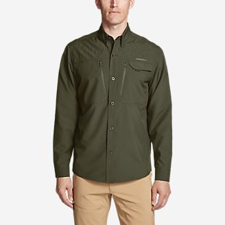 Men's Field Guide Flex Shirt in Green