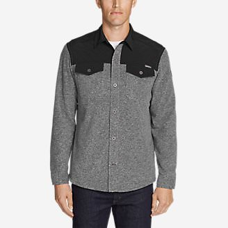 Men's Chutes Fleece Field Shirt in Gray