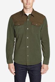 Men's Chutes Fleece Field Shirt in Green