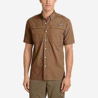Men's Guide Short-Sleeve Shirt in Brown