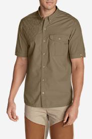 Men's Palouse Short-Sleeve Shooting Shirt in Beige