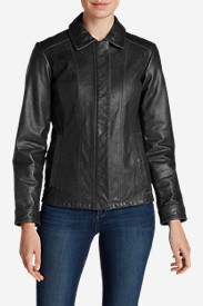 Women's Leather Stine Jacket in Black