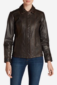 Women's Leather Stine Jacket in Brown