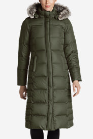 Women's Lodge Down Duffle Coat in Green