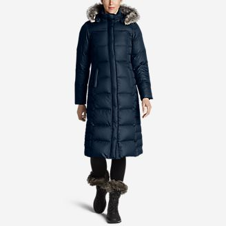 Women's Lodge Down Duffle Coat in Blue