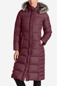 Women's Lodge Down Duffle Coat in Red