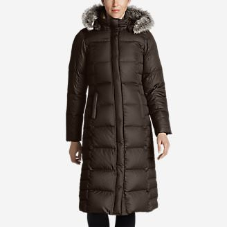 Women's Lodge Down Duffle Coat in Brown