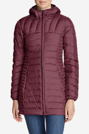 Women's Astoria Hooded Down Parka in Red