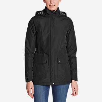 Women's Rainfoil Fleece-Lined Parka in Black