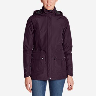 Women's Rainfoil Fleece-LIned Parka in Purple