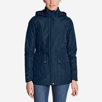 Women's Rainfoil Fleece-LIned Parka in Blue