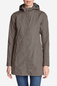 Women's Mackenzie Trench Coat in Gray
