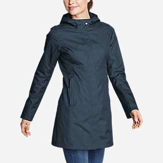 Women's Mackenzie Trench Coat in Blue