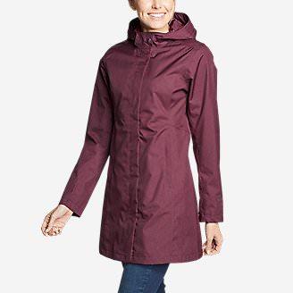 Women's Mackenzie Trench Coat in Red