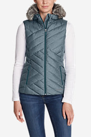 Women's Slate Mountain Down Vest in Blue