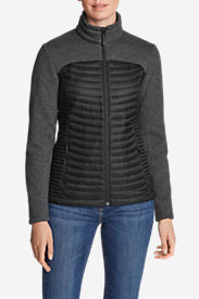 Women's MicroTherm Hybrid Sweater in Black
