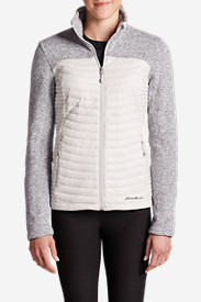 Women's MicroTherm Hybrid Sweater in Gray
