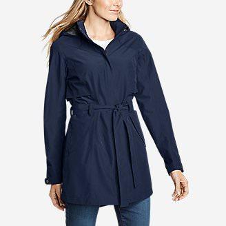 Women's Kona Trench Coat in Blue