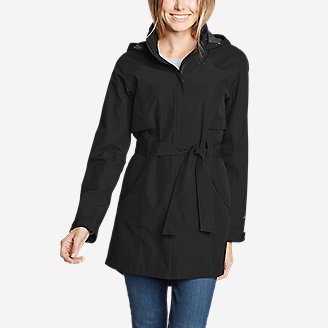 Women's Kona Trench Coat in Black