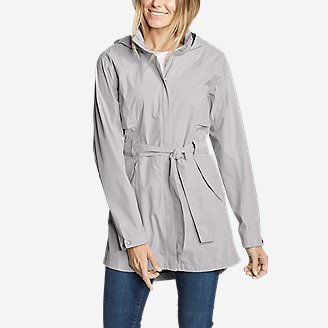 Women's Kona Trench Coat in Gray