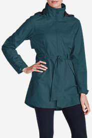 Women's Kona Trench Coat in Blue