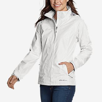 Women's Rainfoil Packable Jacket in White