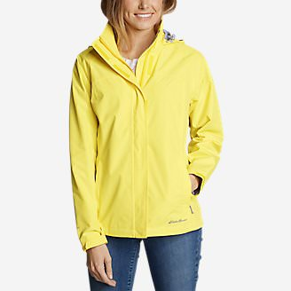 Women's Rainfoil Packable Jacket in Yellow
