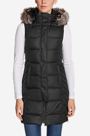 Women's Lodge Down Long Vest in Black