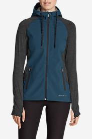 Women's After Burn Hybrid Jacket in Green