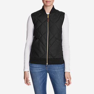 Women's 1936 Skyliner Model Down Vest in Black