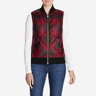 Women's 1936 Skyliner Model Down Vest in Red