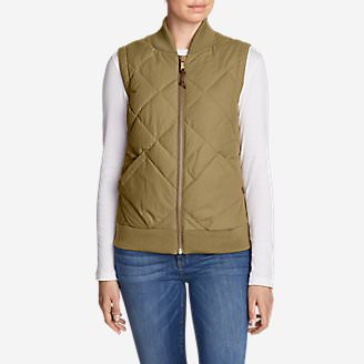 Women's 1936 Skyliner Model Down Vest in Beige
