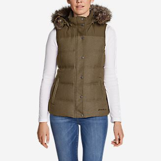 Women's Noble Down Vest in Brown
