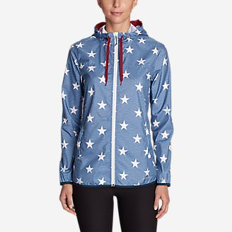 Women's Momentum Light Jacket - Printed in Blue