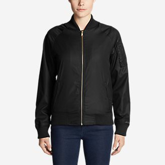Women's Winslow Fleece-Lined Bomber Jacket in Black