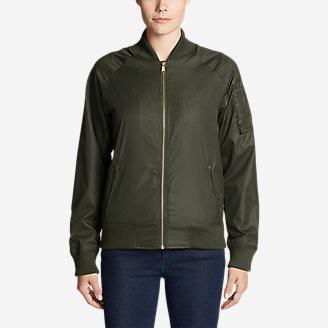 Women's Winslow Fleece-Lined Bomber Jacket in Green