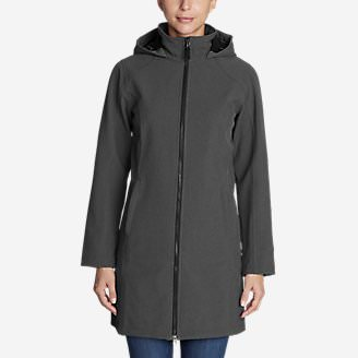 Women's Windfoil Elite 2.0 Hooded Trench Coat in Gray