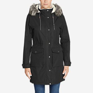 Women's Charly Sherpa-Lined Parka in Black