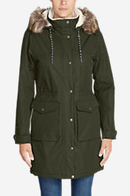 Women's Charly Sherpa-Lined Parka in Green