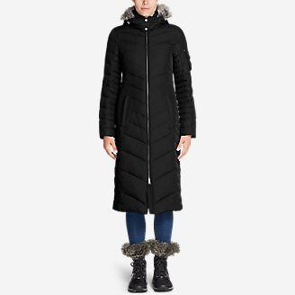 Women's Sun Valley Down Duffle Coat in Black