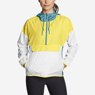 Women's Momentum Light UPF Anorak in Yellow