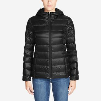 Women's CirrusLite Down Hooded Jacket in Black