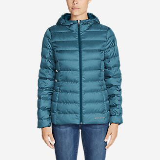 Women's CirrusLite Down Hooded Jacket in Green