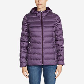 Women's CirrusLite Down Hooded Jacket in Purple