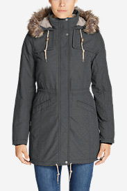 Women's Ladder Creek High-Pile Parka in Black