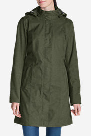Women's Girl On The Go Insulated Trench Coat in Green