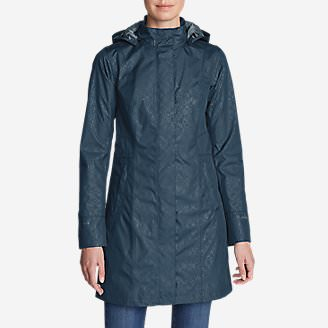Women's Girl On The Go Insulated Trench Coat in Blue