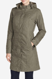 Women's Girl On The Go Insulated Trench Coat in Beige