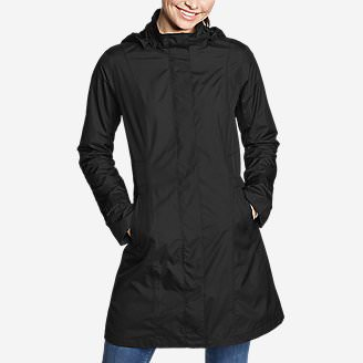 Women's Girl on the Go Trench Coat in Black