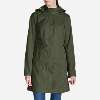 Women's Girl on the Go Trench Coat in Green
